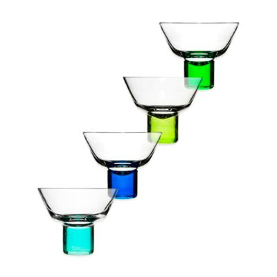 Sagaform® Club Martini Glasses in Blue/Green (Set of 4)