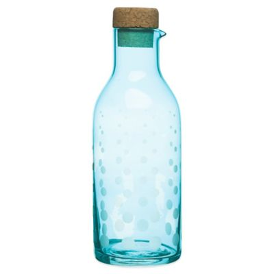 Sagaform® SEA Aqua Droplets Glass Carafe in Turquoise