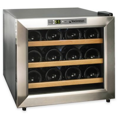 Wine Enthusiast Silent 12-Bottle Thermoelectric Wine Cooler in Silver