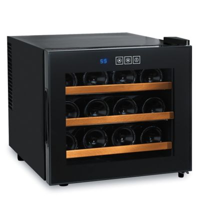 Wine Enthusiast Silent 12-Bottle Thermoelectric Wine Cooler in Black