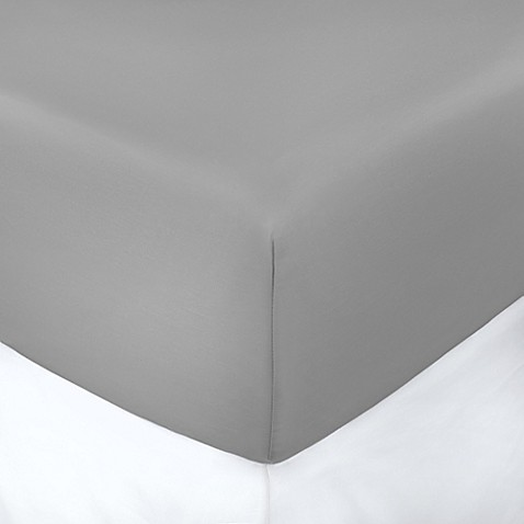 buy 400 thread count solid 8 inch deep pocket full fitted sheet in grey from bed bath beyond. Black Bedroom Furniture Sets. Home Design Ideas