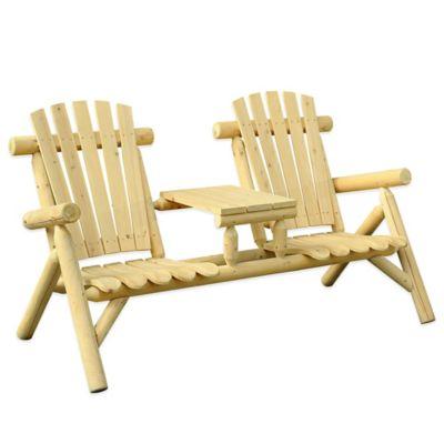 Sunjoy Junewood Wooden 2-Seater