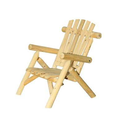 Sunjoy Junewood Wooden Chair in Beige