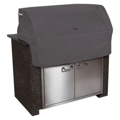 Classic Accessories® Large Polyester Ravenna Built-in BBQ Grill Top Cover in Taupe