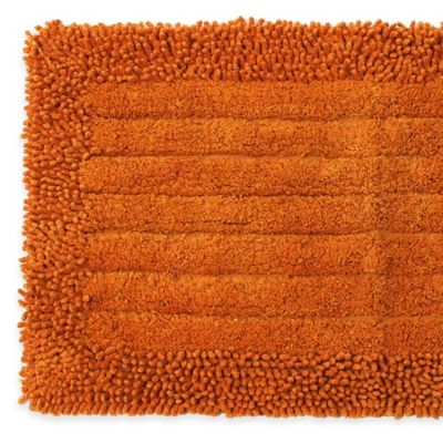 Pam Grace Creations Chenille Bath Rug in Orange