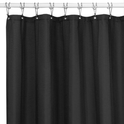 Westerly Black 72-Inch x 72-Inch Fabric Shower Curtain