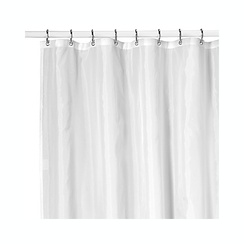 Ultimate White Nylon Shower Curtain Liner