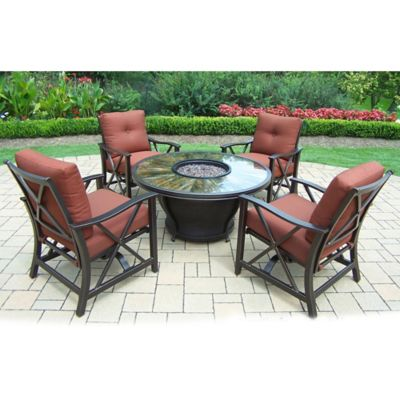 Oakland Living Sunray 5-Piece Fire Pit Conversation Set