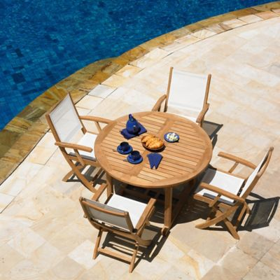 Three Birds Casual Chelsea Outdoor7-Piece Dining Set in Teak