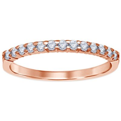 14K Rose Gold .25 cttw Prong-Set Diamond Size 5 Ladies' Wedding Band