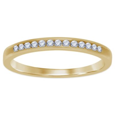 14K Yellow Gold .17 cttw Channel-Set Diamond Size 7 Ladies' Wedding Band