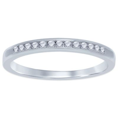 Sterling Silver .10 cttw Channel-Set Diamond Size 7 Ladies' Wedding Band