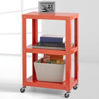 Studio 3B™ 3-Tier Metal Shelving in Red Orange