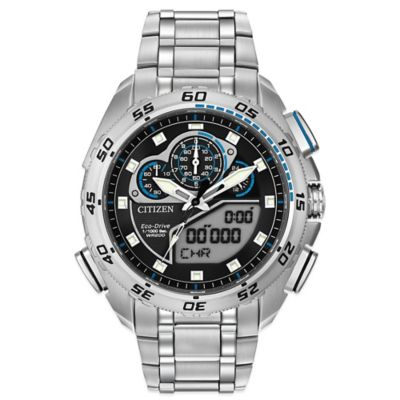 Citizen Eco-Drive Men's 44mm Promaster Super Sport Chronograph Watch in Stainless Steel