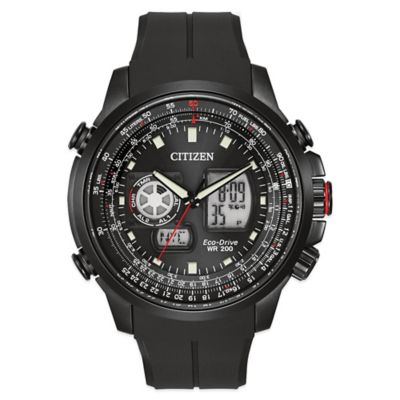 Citizen Eco-Drive Men's 47mm Promaster Air Watch in Black Stainless Steel with Poly Strap