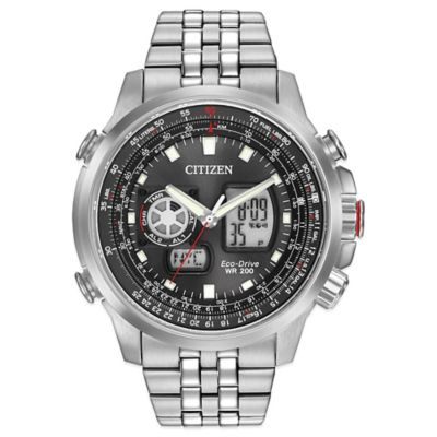 Citizen Eco-Drive Promaster Air Men's 47mm Black Dial Watch in Stainless Steel