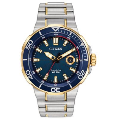 Citizen Eco-Drive Men's 45mm Endeavor Blue Dial Watch in Stainless Steel