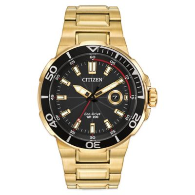Goldtone Stainless Steelblack Men's Watches