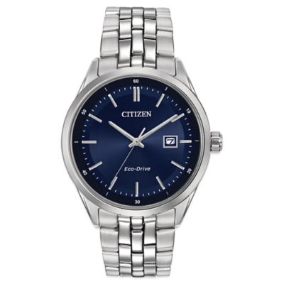 Citizen Men's Eco-Drive 41mm Contemporary Dress Watch in Stainless Steel with Blue Dial