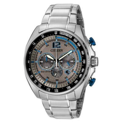 Citizen Drive From Eco-Drive WDR Men's 45mm Blue-Accented Chronograph Watch in Stainless Steel