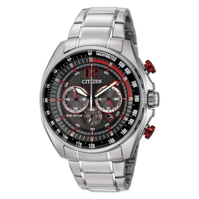 Citizen Drive WDR Men's 45mm Chronograph Black Dial Watch in Stainless Steel
