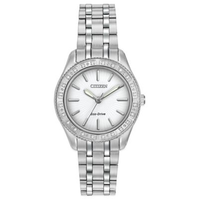 Citizen Eco-Drive Ladies' 29mm Carina Watch in Stainless Steel