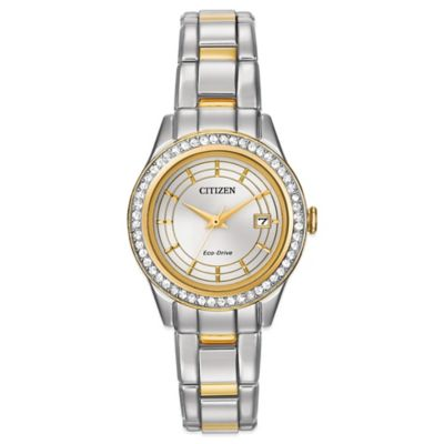 Citizen Eco-Drive Ladies' 28mm Silhouette Crystal Graduated Dial Watch in Two-Tone Stainless Steel