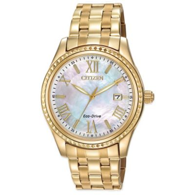 Citizen Drive From Eco-Drive Ladies' 40mm AML Watch in Goldtone Stainless Steel