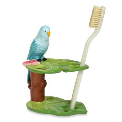 Tropical Bird Toothbrush Holder
