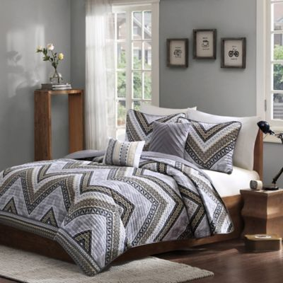 Intelligent Design Talula Twin/Twin XL Coverlet Set in Taupe