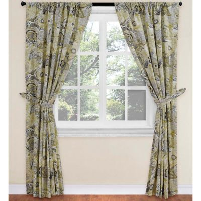 World Market® Bambini Rod Pocket 63-Inch Window Curtain Panel in Green