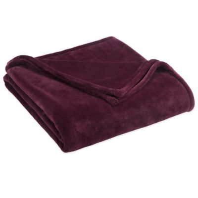 Vellux® Sheared Mink King Blanket in Fig