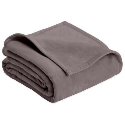 Plush Full/Queen Blanket in Grey