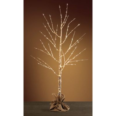 Pre-Lit 4-Foot LED Birch Tree