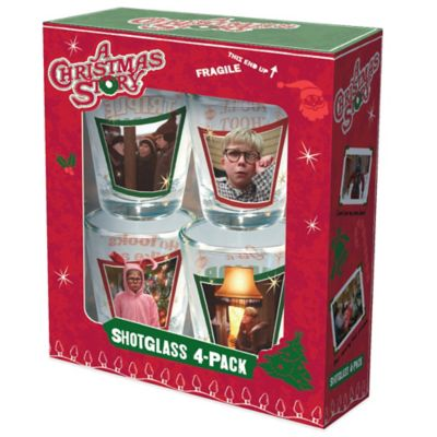 """A Christmas Story"" 4-Piece Shot Glass Set"
