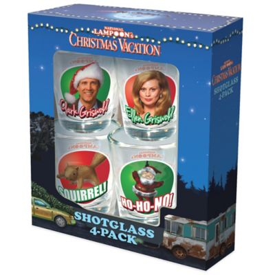 """National Lampoon's Christmas Vacation"" 4-Piece Shot Glass Set"