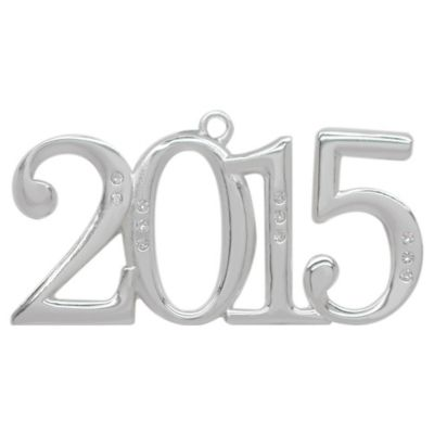Silver-Plated Annual 2015 Christmas Ornament