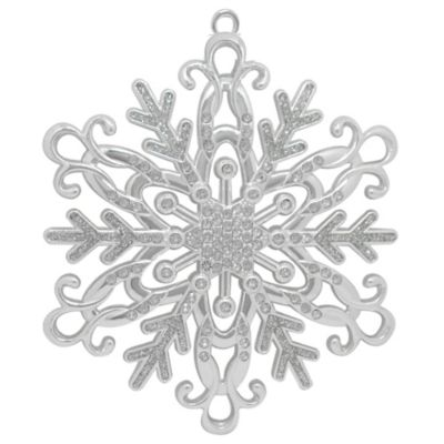 Harvey Lewis™ Silver-Plated Luxury Snowflake Christmas Ornament