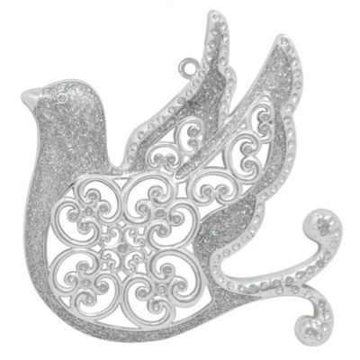 Silver-Plated Luxury Dove Christmas Ornament
