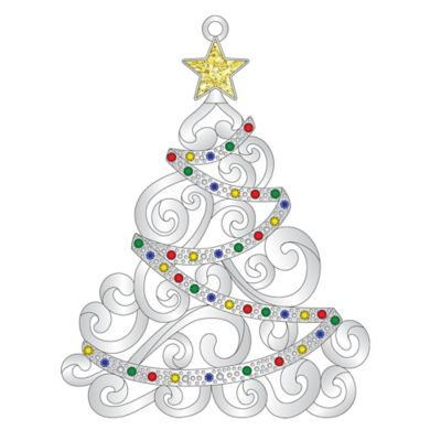 Silver-Plated Luxury Christmas Tree Ornament