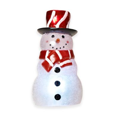 4.5-Inch LED Snowman Nightlight with Sensor