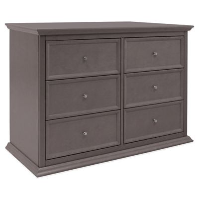Million Dollar Baby Classic Foothill/Louis 6-Drawer Double Dresser in Weathered Grey