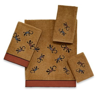 Avanti Geckos Bath Towel in Nutmeg