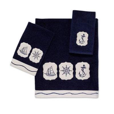 Avanti Nautical Fingertip Towel in Indigo