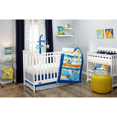 Disney® Monsters at Play 4-Piece Crib Bedding Set