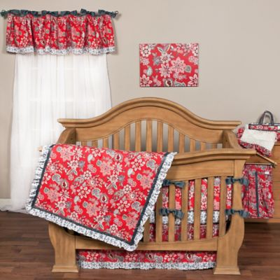 Coral and Cream Nursery Bedding