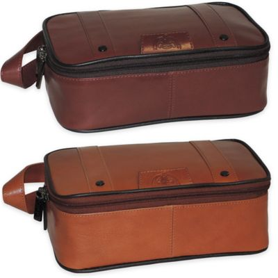 Dopp Veneto Top-Zip Travel Kit in Brown