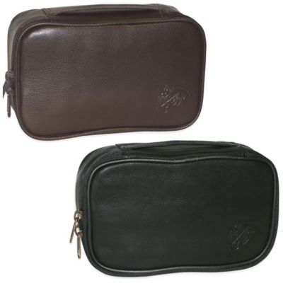 Black Leather Toiletry