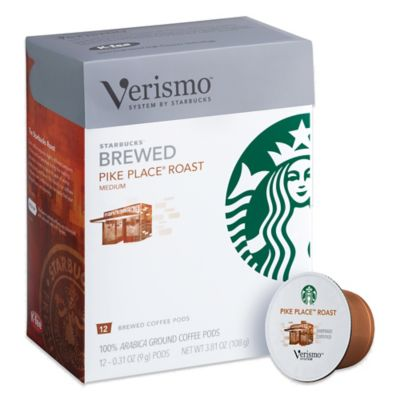 Starbucks® Verismo™ 12-Count Pike's Place® Roast Brewed Coffee Pods