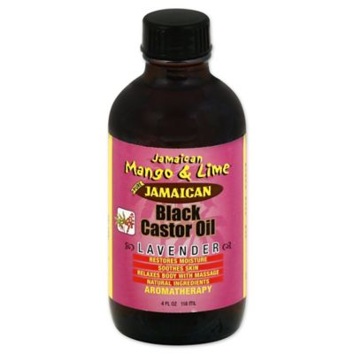Jamaican Mango and Lime 4 oz. Black Castor Oil in Lavender